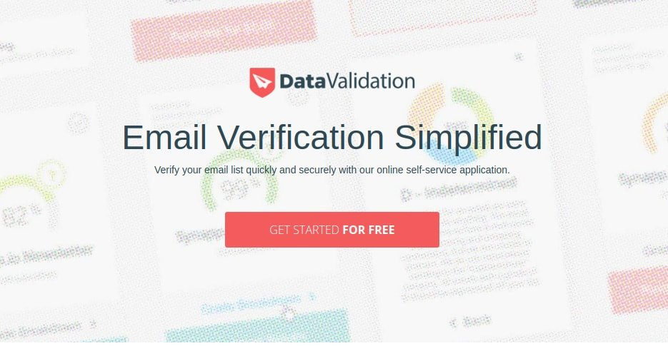 DataValidation email verifier tool