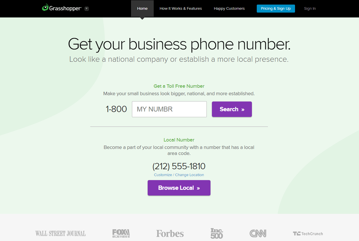 Grasshopper Virtual Phone Number VoIP Phone