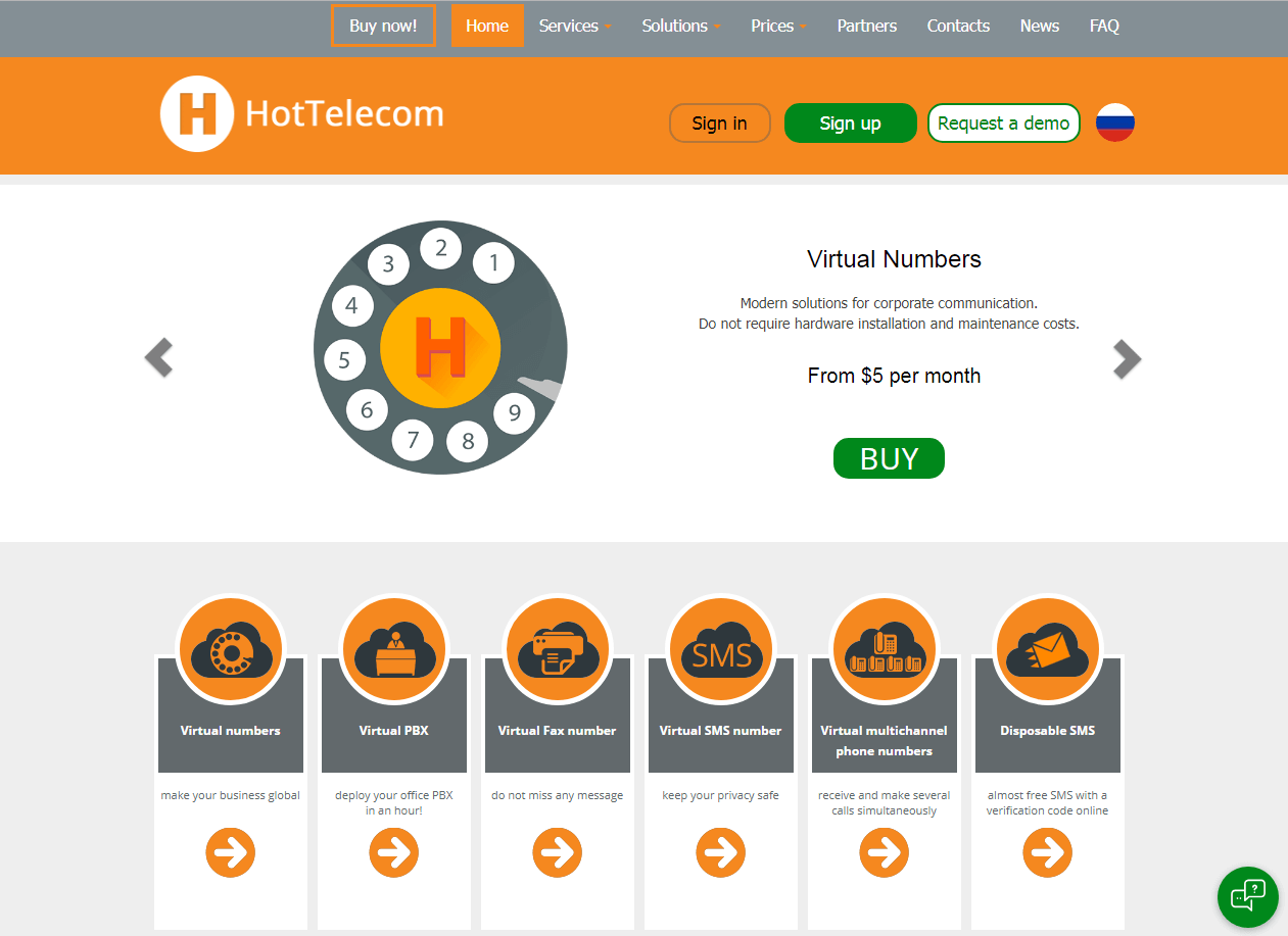 HotTelecom Virtual Phone Number VoIP Phone