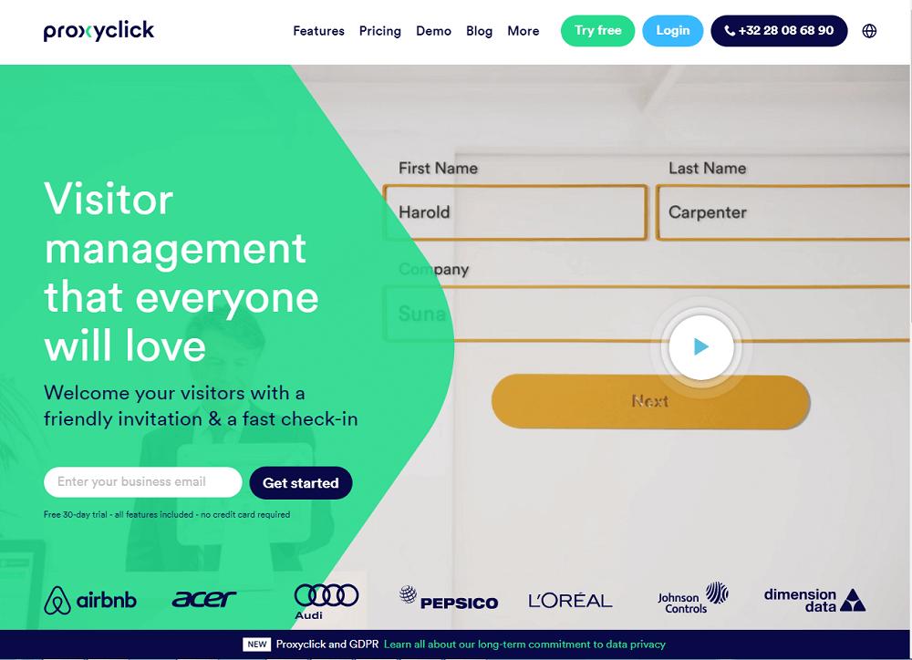 Proxyclick Visitor Management System
