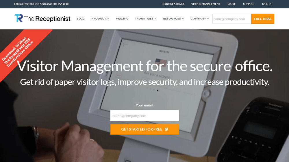 The Receptionist Visitor Management System