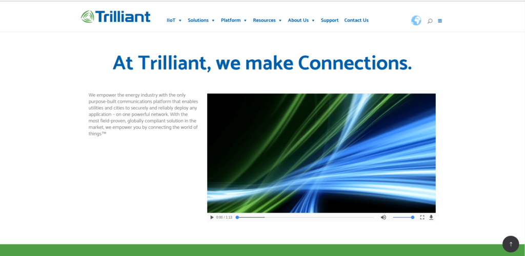 IoT startups in supply networks: Trilliant