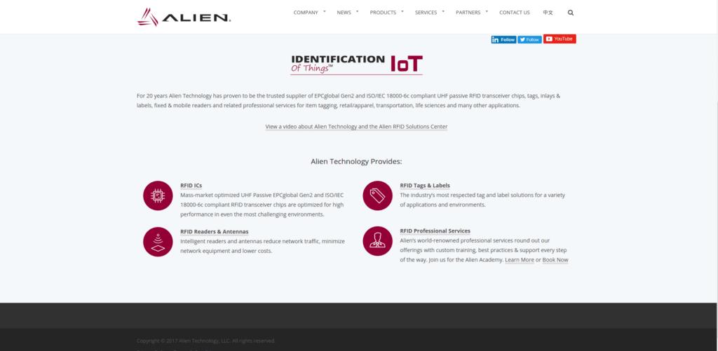 Logistics IoT startups: Alien Technology