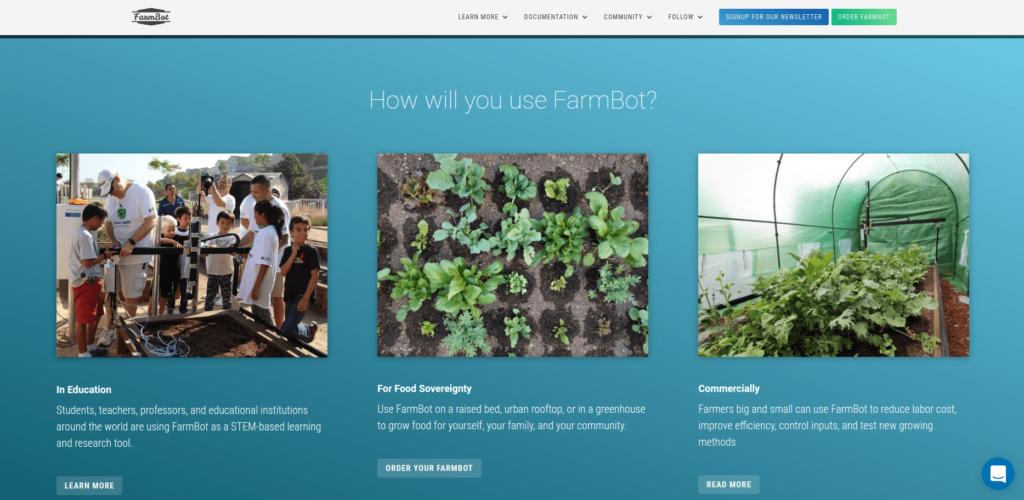Farmbot IIoT startup