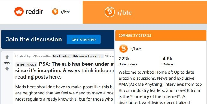 reddit cryptocurrency sub