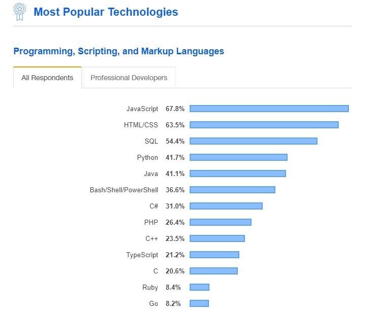 Popular software technologies