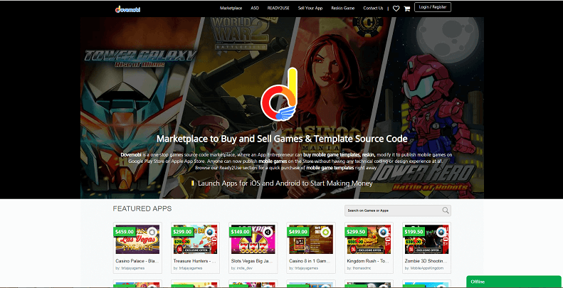 Dovemobi Games Source Code Marketplace