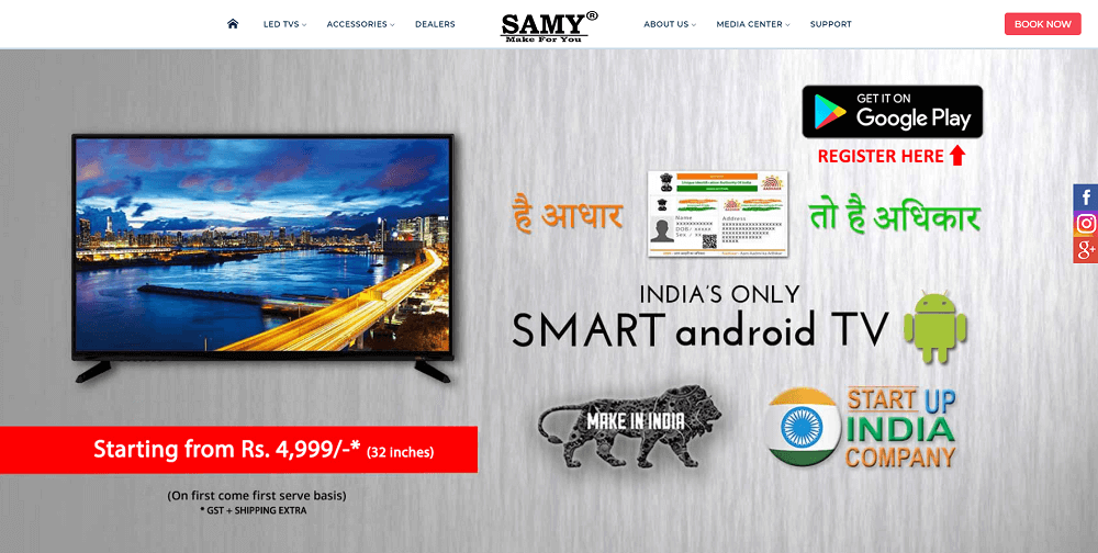 Samy TV - Cheapest Smart TV