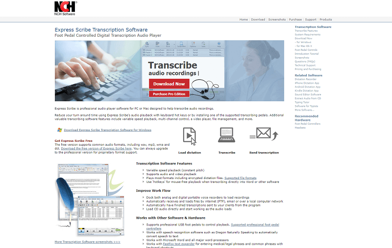 Express Scribe Transcription Software