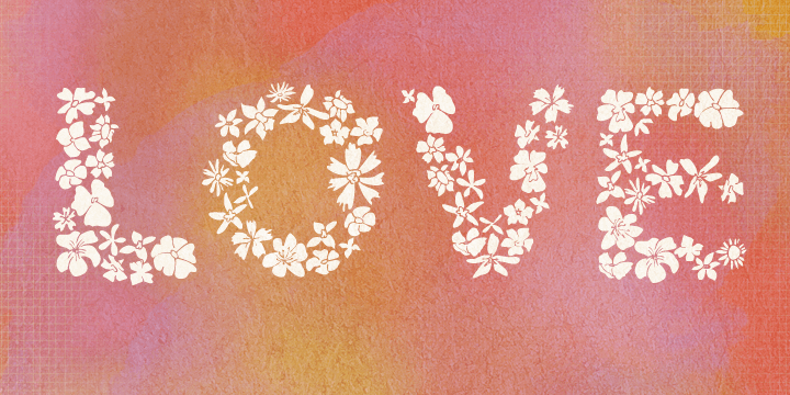 flower type pretty stylish font