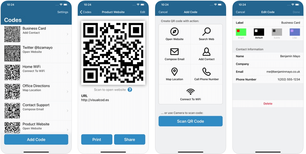 Visual Codes - Share Wifi Password from iPhone to Android
