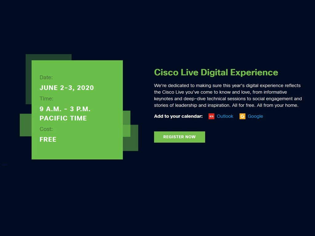 Cisco Live online event 2020