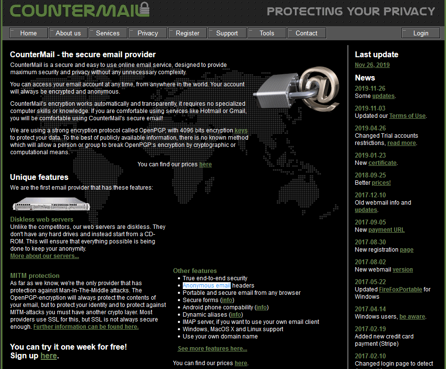 CounterMail - Anonymous Email Service Provider