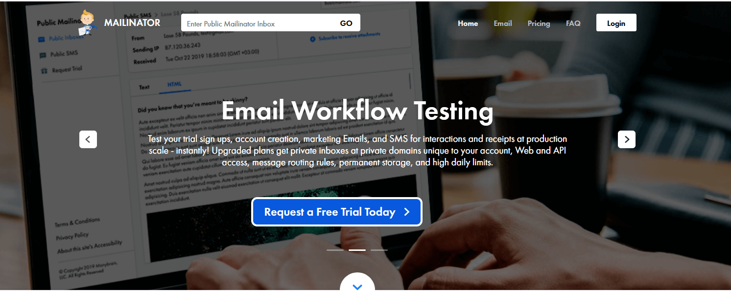 Mailinator - Check Your Inbox Anytime without Registration