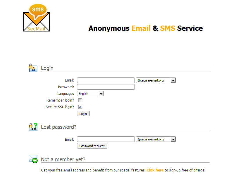 Secure-email - Send Anonymous Email and SMS