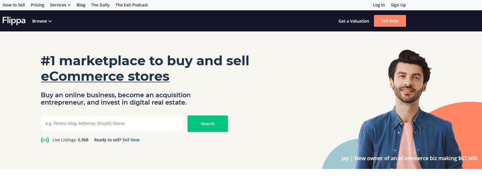 Flippa website marketplace