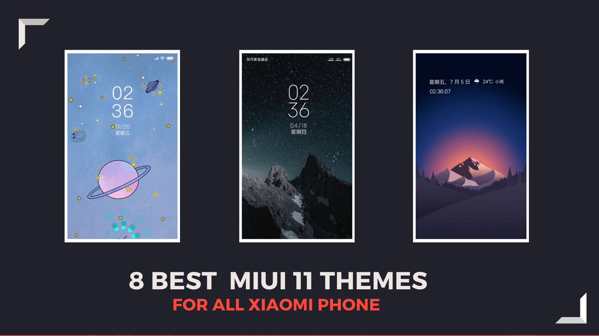 8 Best MIUI 11 Themes
