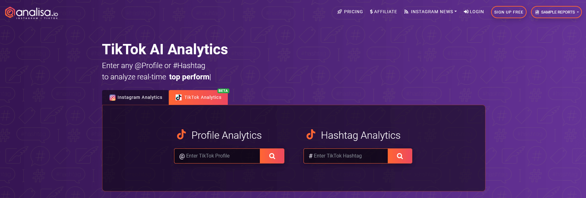 Analisa.io - Analyze TikTok Profile & Followers