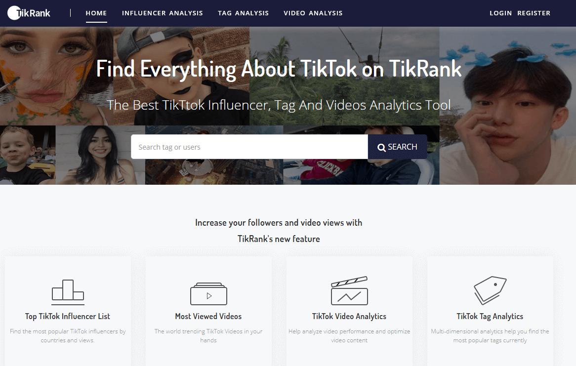 Tik Rank - TikTtok Influencer, Tag And Videos Analytics Tool