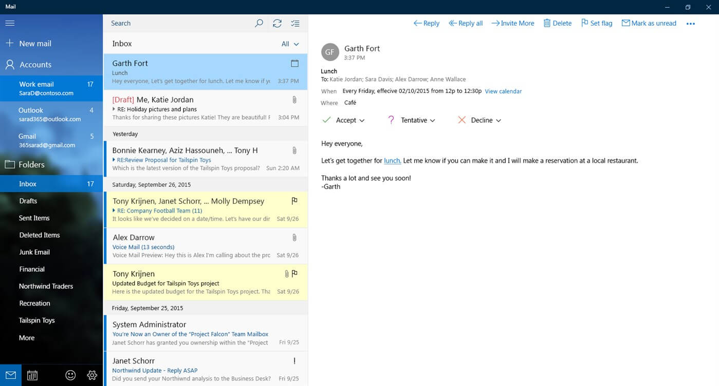 Windows Mail - Free Email Client to Manage Mails & Calendar