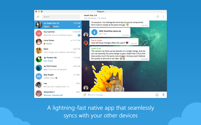 Telegram secured messaging app