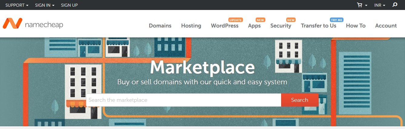 Namecheap domain auction