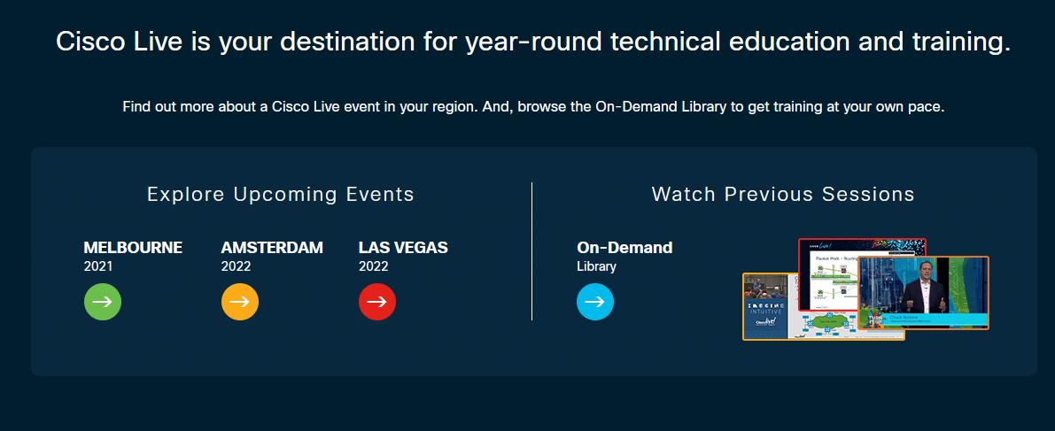Cisco Live Global Events