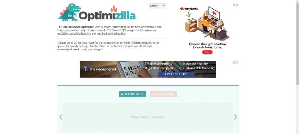Optimizilla image compression tools