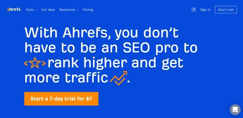 ahrefs tool for backlinks & seo analysis