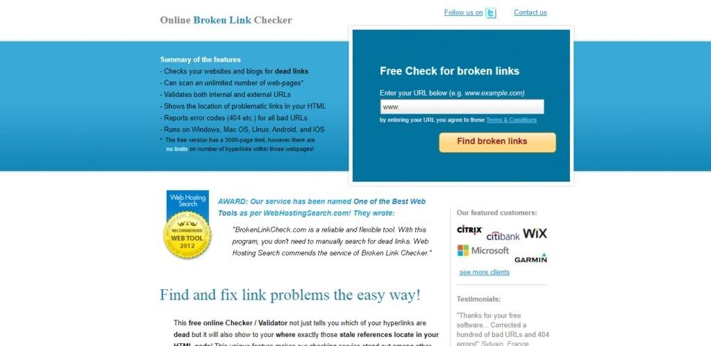 broken link checker tool to check dead link
