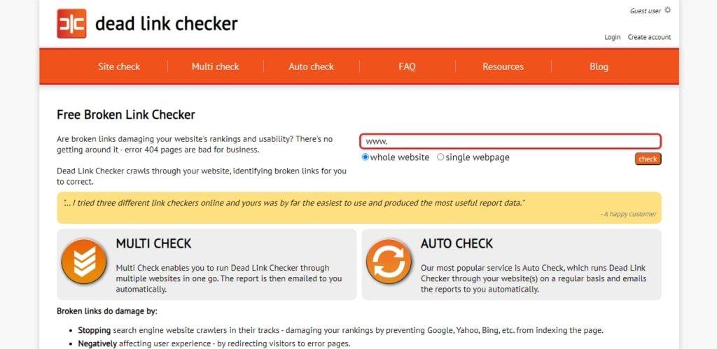 dead line checker free broken link checker