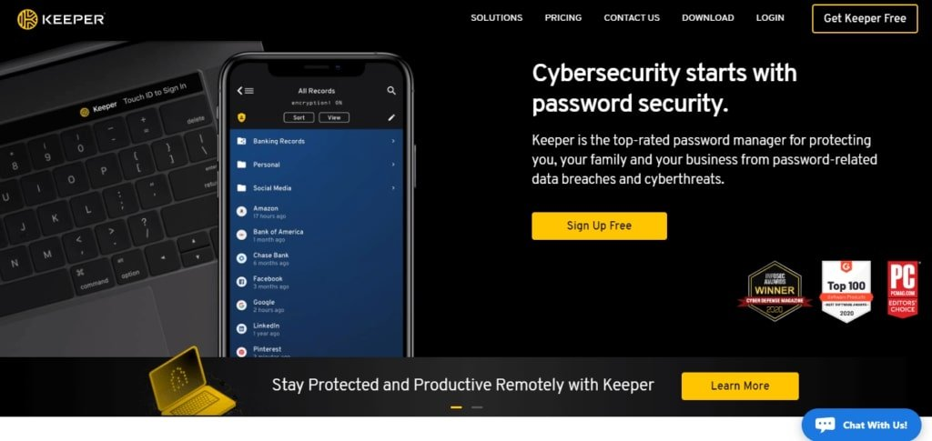 keeper - save your passwords from cyber-threats
