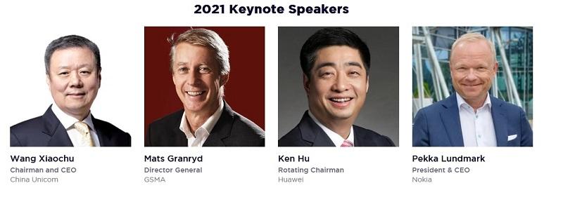 Keynote Speakers at MWC Shanghai 2021